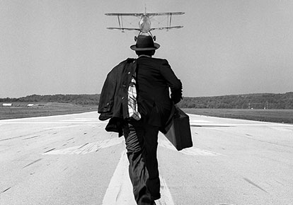 A.J. chasing airplane, Orange County Airport, NY, 1998